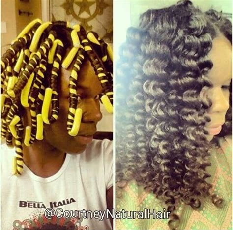 pictures of hair rolled on small rods naturalhair styles roll hair around rod instead of