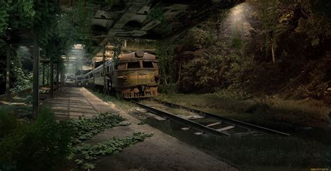 Small House Images Train Apocalyptic Sci Fi Dark Wallpaper 2486x1285