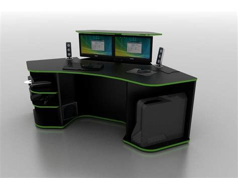 r2s gaming desk and roccaforte gaming desk weapon