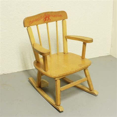 Vintage Child Rocking Chair vintage rocking chair childs cass toys box