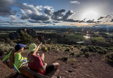 running shoes bend oregon mcmahon rand and hubbs take in the cascade range from