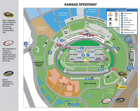 kansas speedway fan walk nscs ncwts full weekend schedule track map kansas