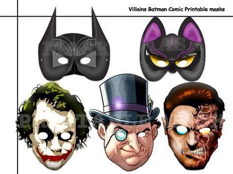 villain mask template unique villains the batman comic printable masks diy paper