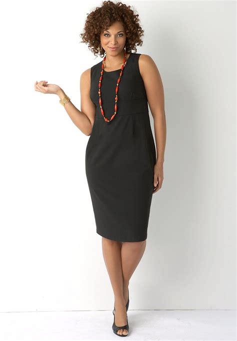 Dresses for women sheath dress plus size styling with necklace jpg