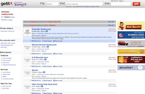 Yahoo Search India Yahoo India Launches Local Search With Getit Medianama