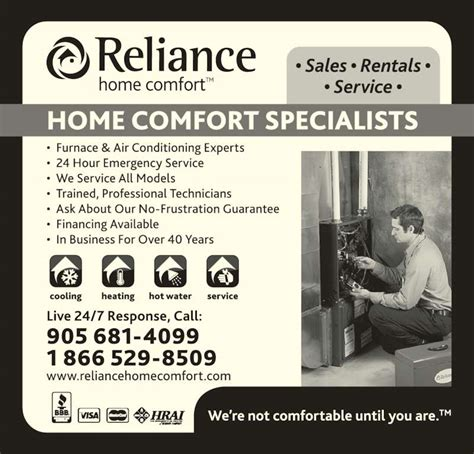 Reliance Home Comfort Burlington Ontario by Reliance Home Comfort Canpages