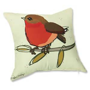 decorative accent pillow robin redbreast pillow orvis