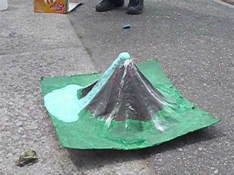 How To Make Mountains Out Of Construction Paper - paper mache volcano