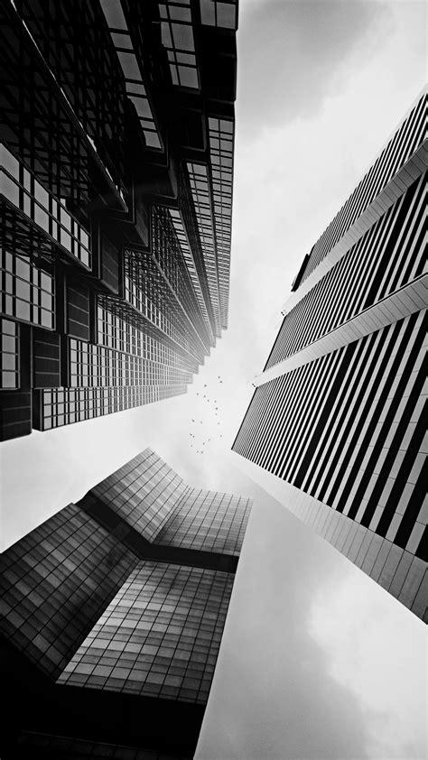 skyscraper buildings black white lockscreen iphone