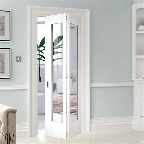 Interior Glazed Bi Fold Doors Shaker 1l Glazed White Primed Bifold Door Lpd Glazed Doors