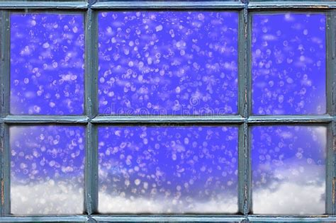 snowing christmas stock photo image  shining winter