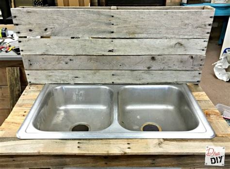 diy outdoor sink station how to a unique diy cooler pallet outdoor