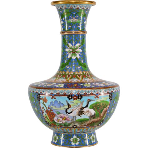 Cloissone Vase by Vintage Cloisonne Enameled Vase From Tolw On Ruby