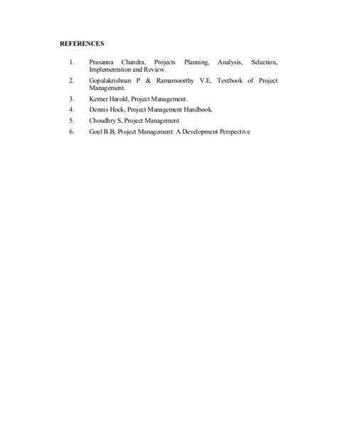 Unit V Mba 6941 Project Schedule by Project Management Book For Mba
