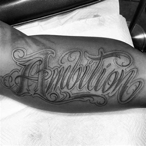 word tattoos for guys 30 ambition design ideas for word ink ideas