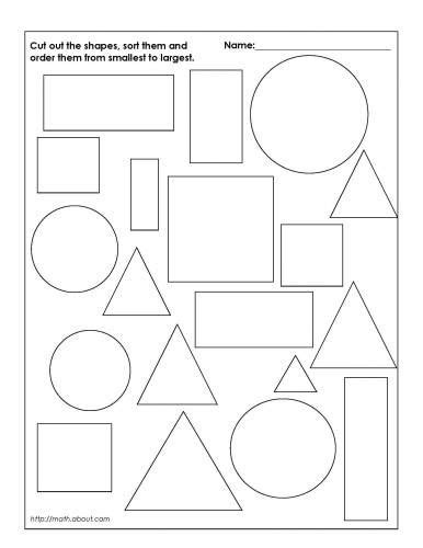 Sorting Shapes Worksheets For Kindergarten by Sorting Shapes Worksheets 3 Abc 123 Shape
