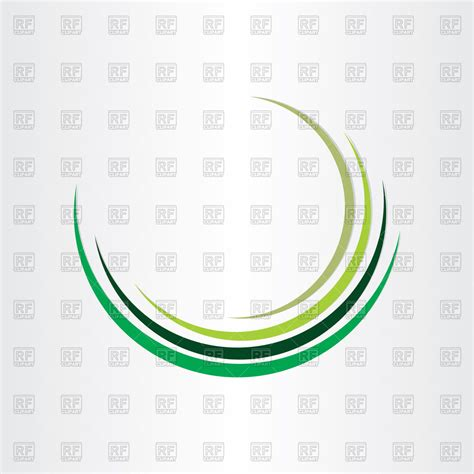 art design in circle green half circle design royalty free vector clip art