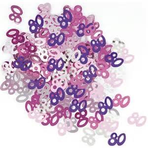 dekoration 80 geburtstag deko konfetti 80 geburtstag in pink 1 cm 216