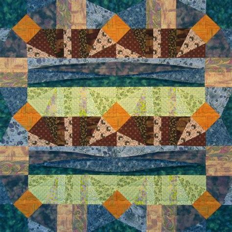 Patchwork By Sea - sand sea and sun patchwork quilt block pattern