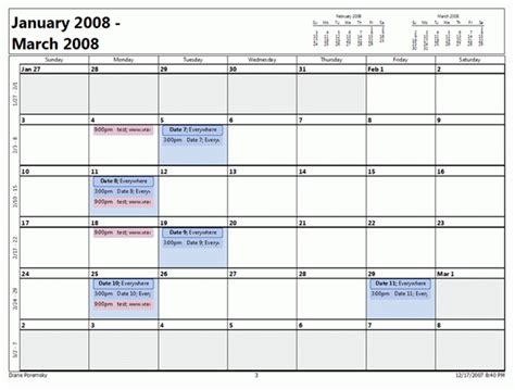 print outlook calendar yearly view outlook 2007 month calendar printing bug