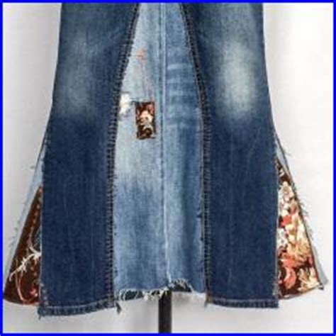 Repurpose Ls by Reserved For Ls Upcycled Denim Maxi Skirt With Vintage
