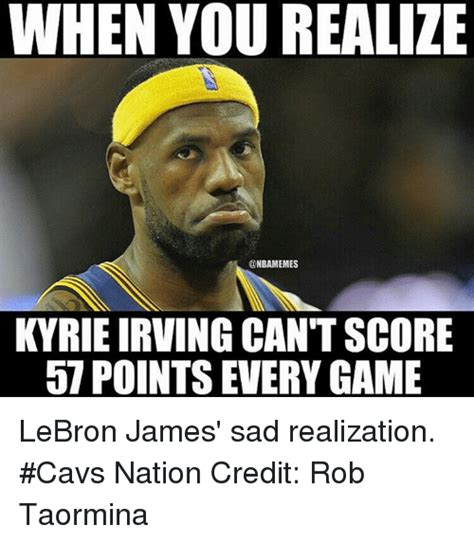 Kyrie Irving Memes - the gallery for gt sad realization meme