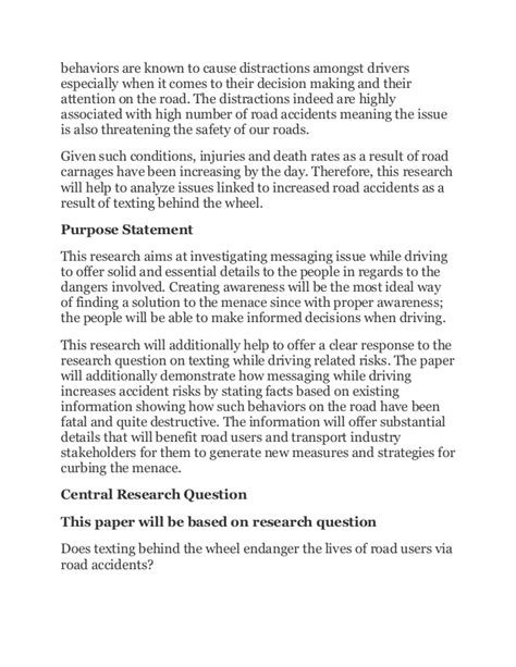 Essay Texting And Driving by Messaging While Driving Essay