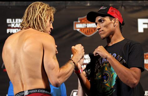 Liv Weighs In by Las Vegas Nv May 31 L R Opponents Jonathan Brookins