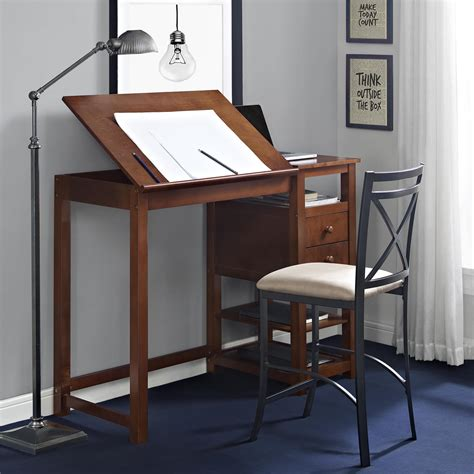 counter height computer desk dorel living dorel living drafting and craft counter
