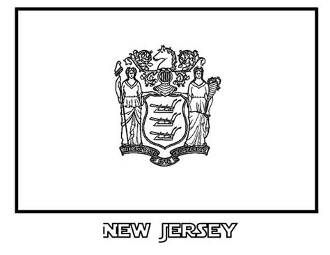 new jersey colors state flag of new jersey coloring page state flag of new