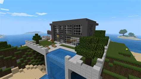 nice house designs minecraft nice modern house with waterfall minecraft project