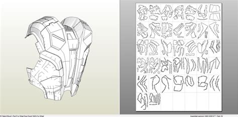iron man suit template papercraft pdo file template for iron mk7 armor