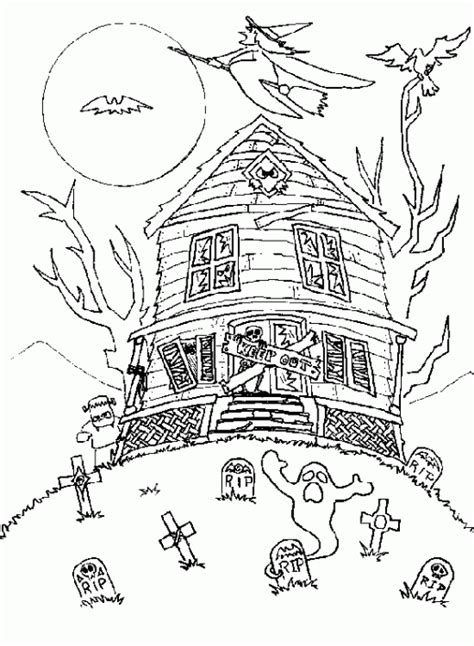 free halloween coloring pages for middle school halloween coloring pages printable scary haunted house
