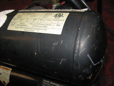nikota air compressor  psi model paca