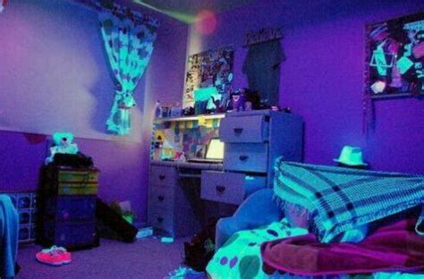 neon bedroom ideas neon room glow in dark pinterest