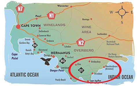 africa map cape of the most southern tip of africa at cape agulhas