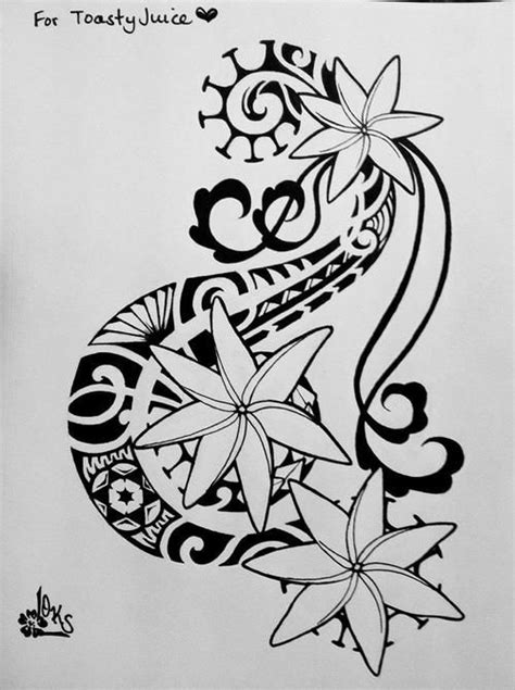 tribal hawaiian flower tattoo tattoos by butler hilo hawaii tiare flower tahitian