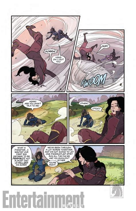 the legend of korra turf wars part one korra and asami enjoy a date in legend of korra comic