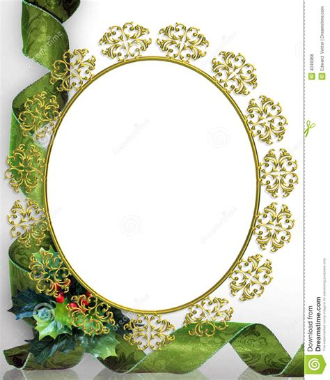 oval christmas frames frame picture oval stock illustration illustration of card damask 4049368