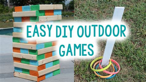 easy backyard games diy outdoor games for summer easy craft idea youtube