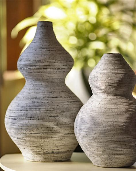Recycled Paper Vase by Large Gazette Recycled Paper Vase