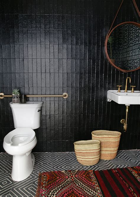 black tile paint for bathrooms amber interiors x kohler new office bathroom amber