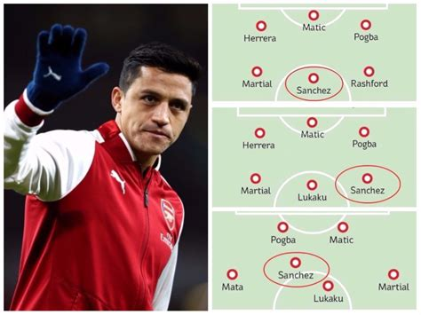 alexis sanchez man u how manchester united could line up with alexis sanchez