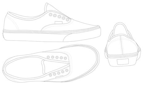 vans original classic authentic template by katus nemcu on
