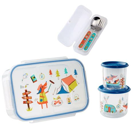 Lunch Storage Containers Sugarbooger Divided Lunch Box Silverware Sm Snack Storage