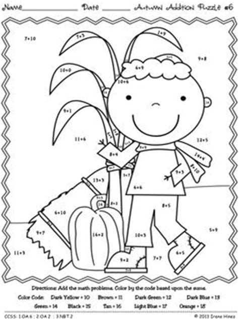 autumn math coloring pages 16 best images of fall coloring pages math worksheets