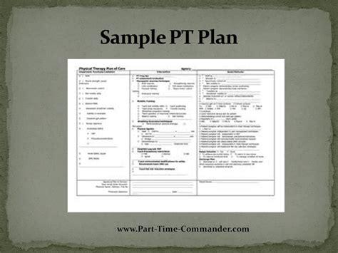 Army Pt Calendar Exle Calendar Template 2016 Pt Template