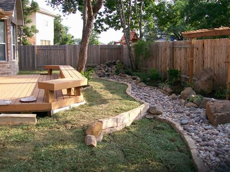 creek bed to form part of garden edge landscaping