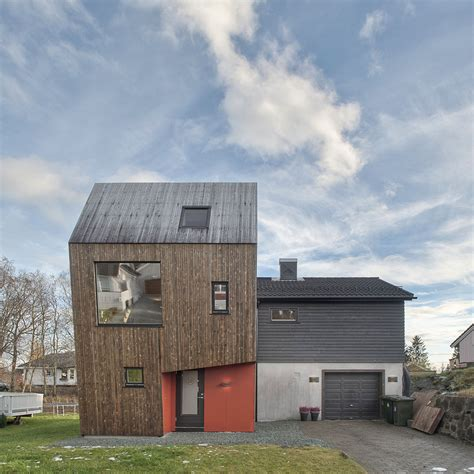 Asymmetric Modern House in Norway for a Family of Four
