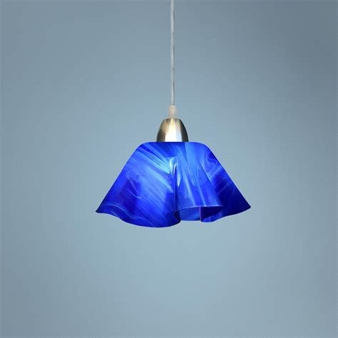 Cobalt Blue Pendant Lights Jezebel Radiance Cobalt Navy Blue Glass Pendant Light